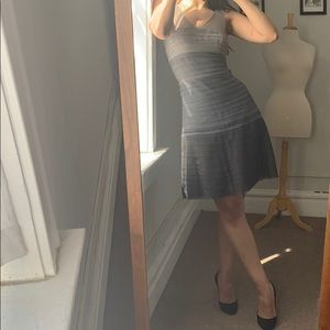 Gray Gradient Dress